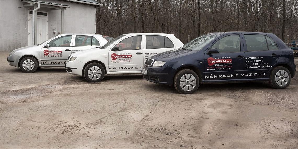 Až 12 náhradných vozidiel pre váš komfort a produktivitu